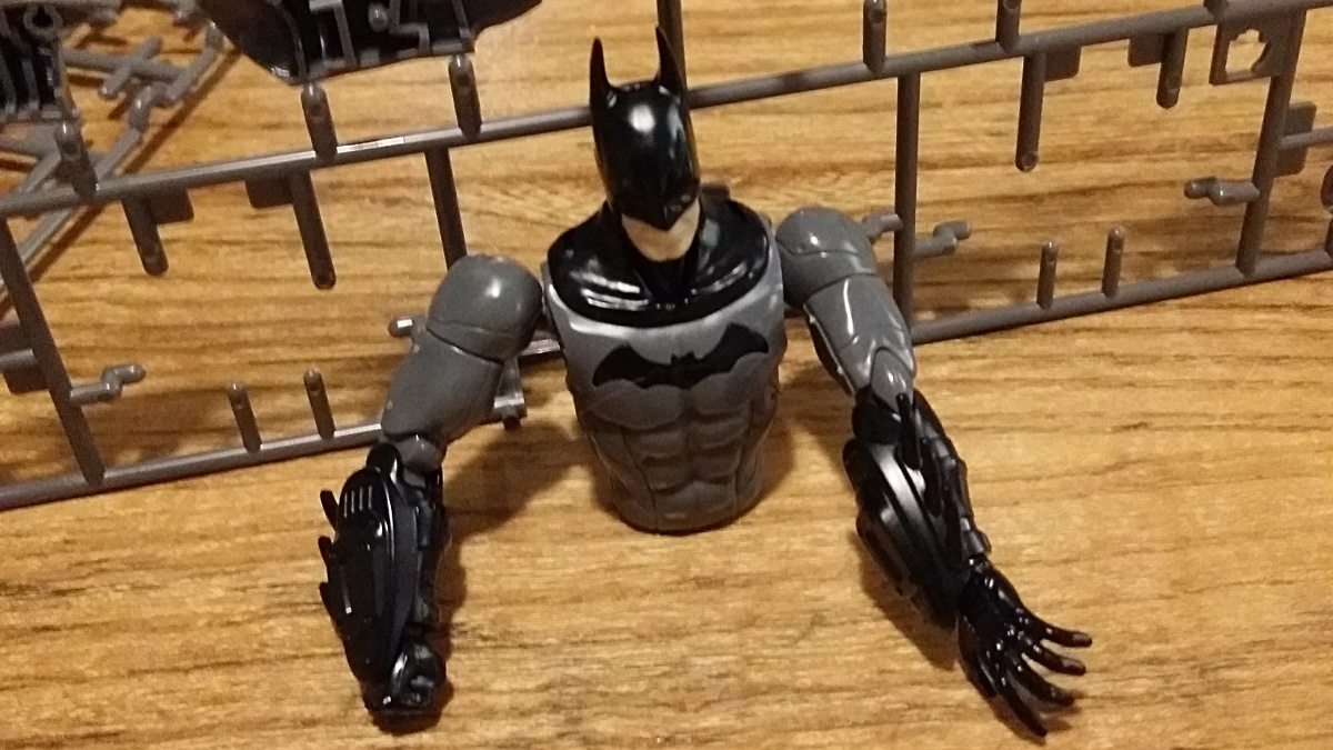 Half of the Batman SpruKit from Bandai. Photo by Anton Olsen