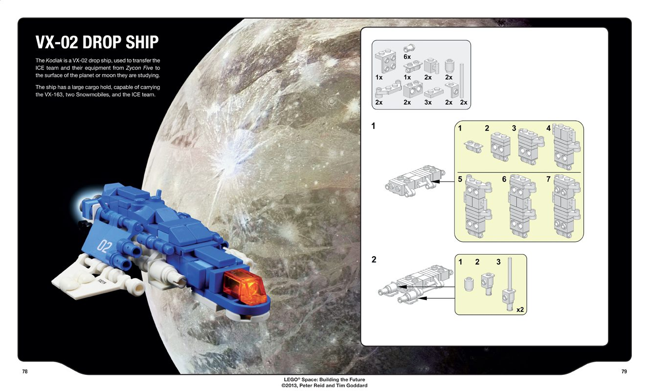 LEGO Space: Builiding the Future Sample Page  Image: No Starch Press