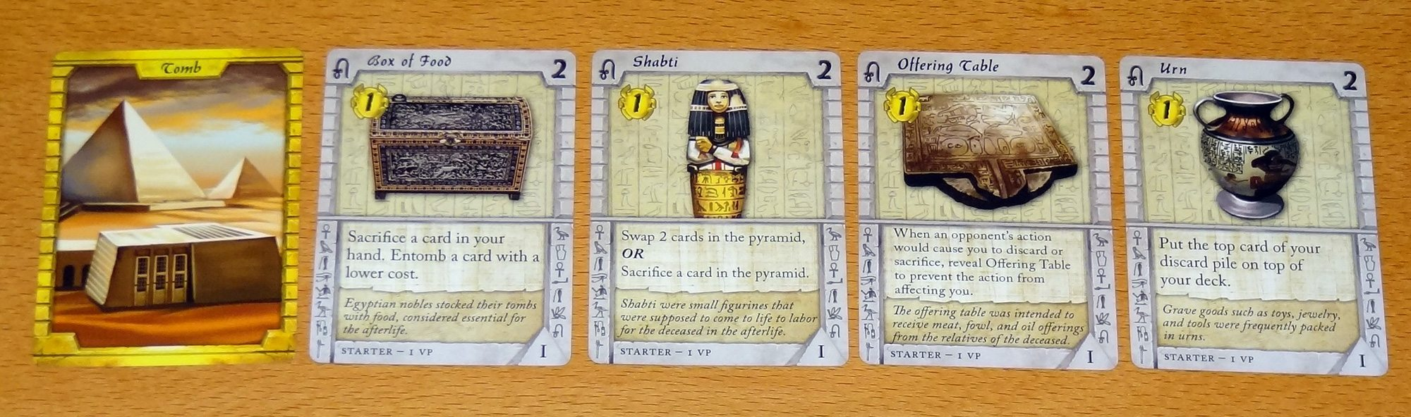 Valley of the Kings starting cards