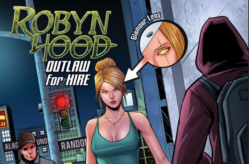 Robyn Hood #1  Art by Larry Watts