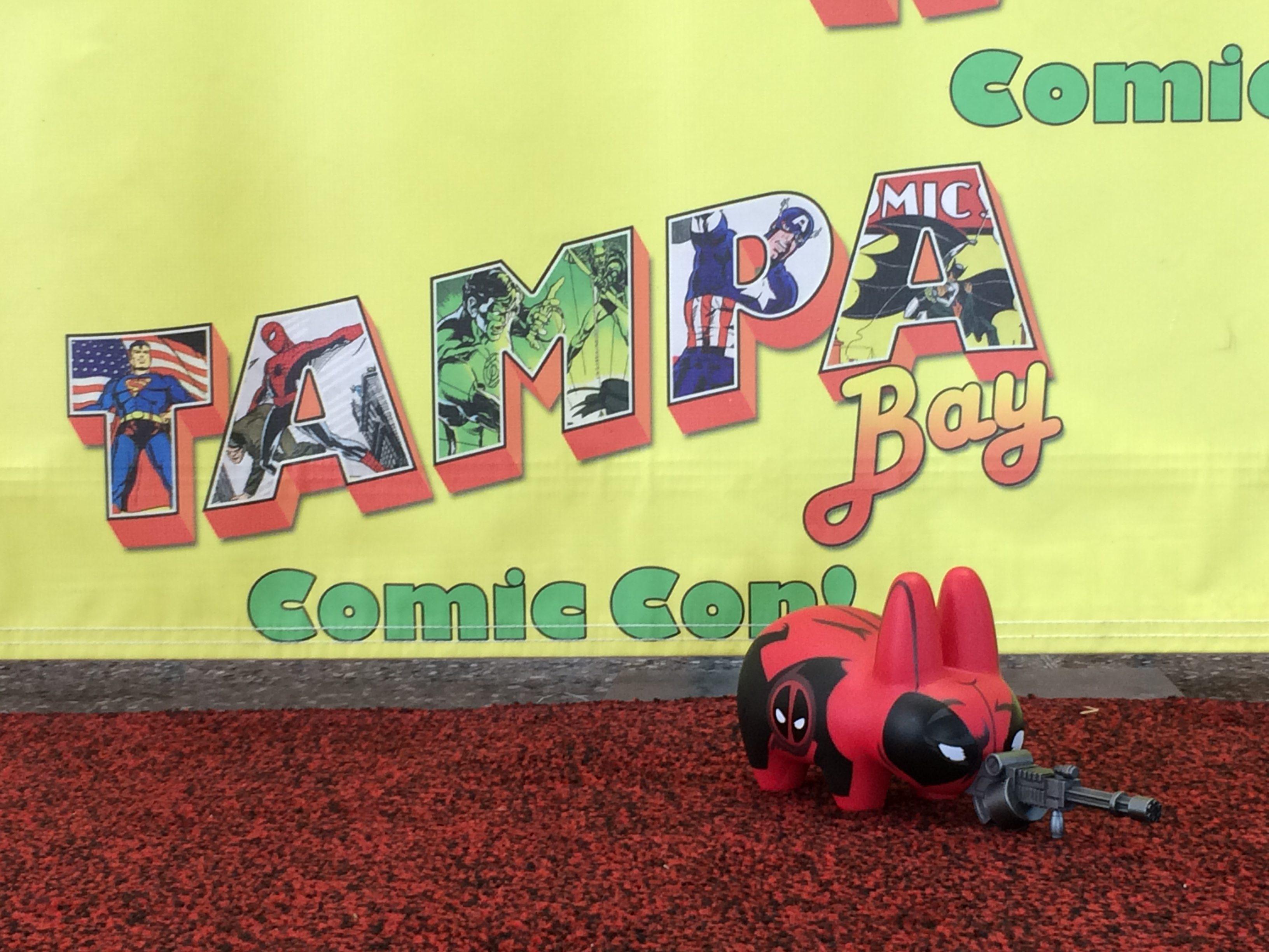 Deadpool Labbit on the red carpet.  Image: Dakster Sullivan