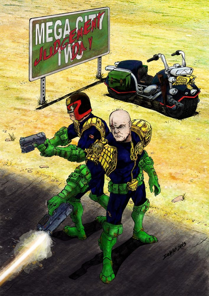 Mega-City Two cover art by Dumo (and me)