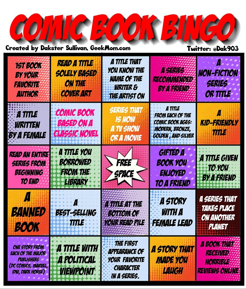 Comic Book BINGO  Image: Dakster Sullivan