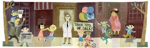 Jonas Salk Google Doodle
