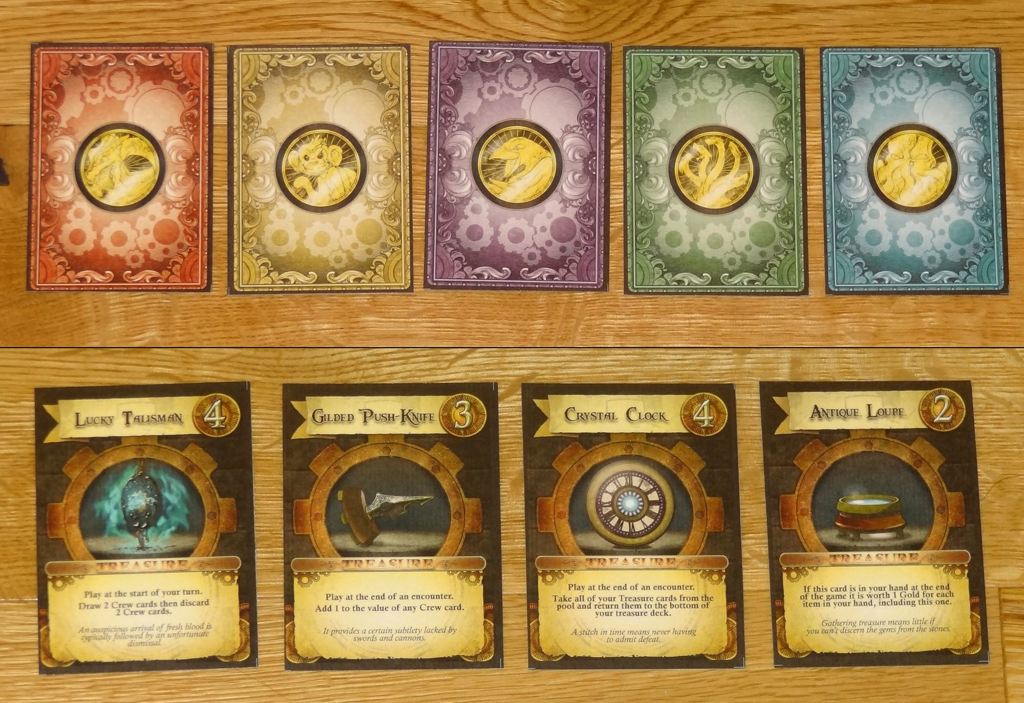 Captain's Wager treasure cards