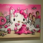 Interested Hello Kitty-inspired art. This one makes me hungry. Photo credit: Ariane Coffin.