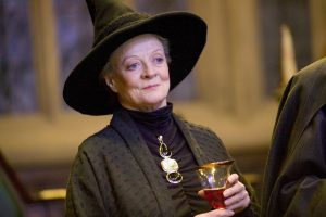 Dame Maggie Smith in her role as Prof. McGonagall