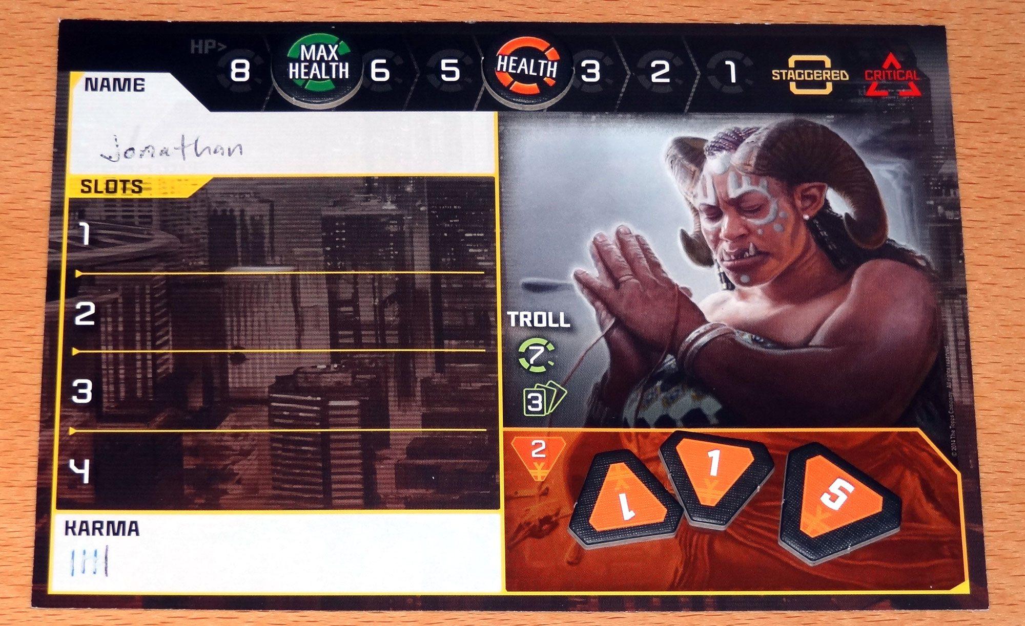 Shadowrun Crossfire Runner card