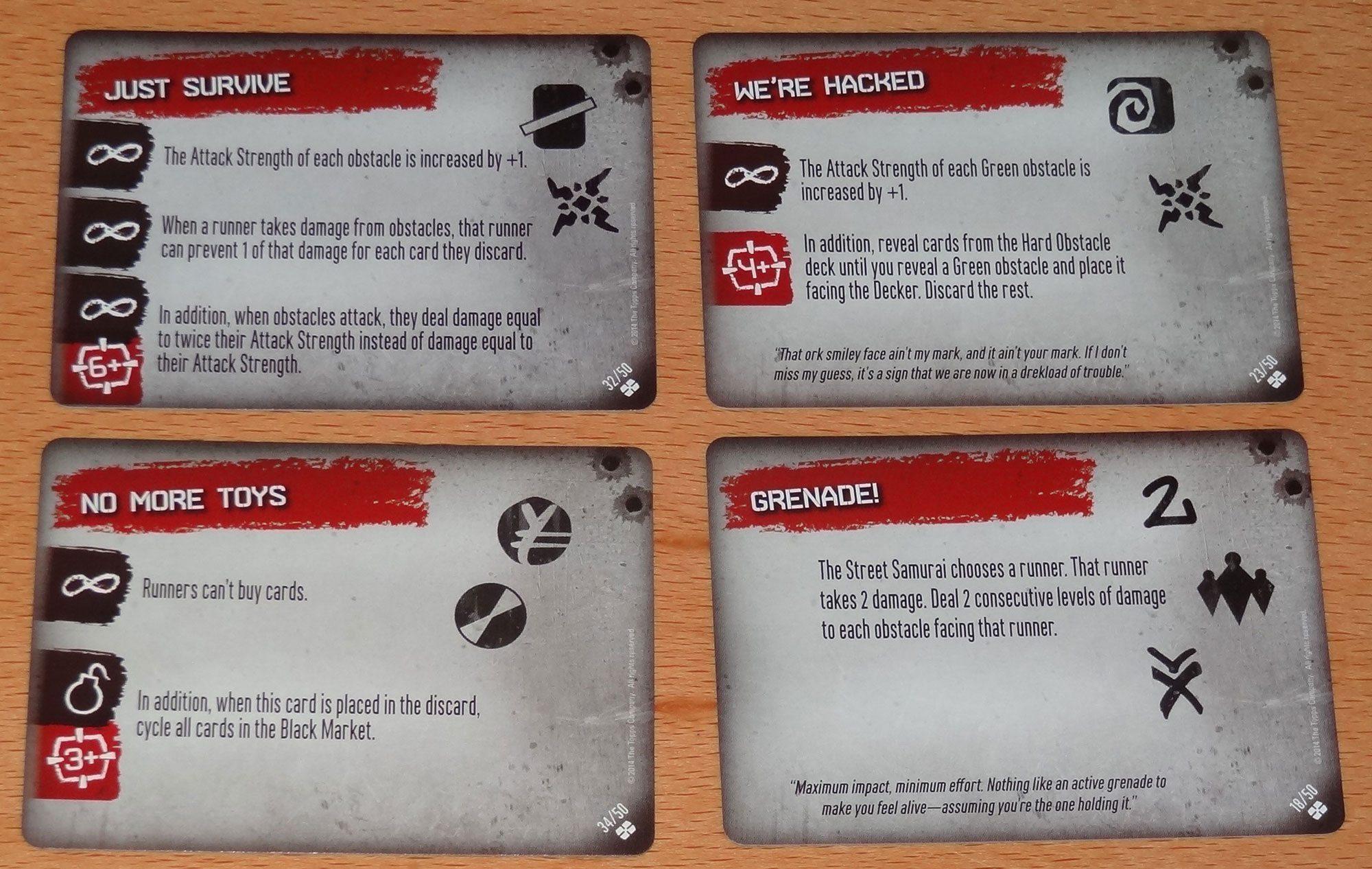 Shadowrun Crossfire Crossfire cards