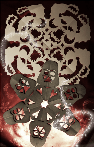 Anthony Herrera's elaborate Stars Wars snowflakes, including this Wampa and Darth Vader design, are part of what sent me down the snowflake rabbit hole. Image by Lisa Kay Tate.