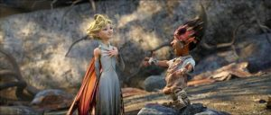 Dawn (Meredith Anne Bull) and Sunny (Elijah Kelley) talk about love in Strange Magic. Photo courtesy of Lucasfilm.