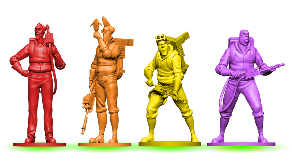 All Four Ghostbusters