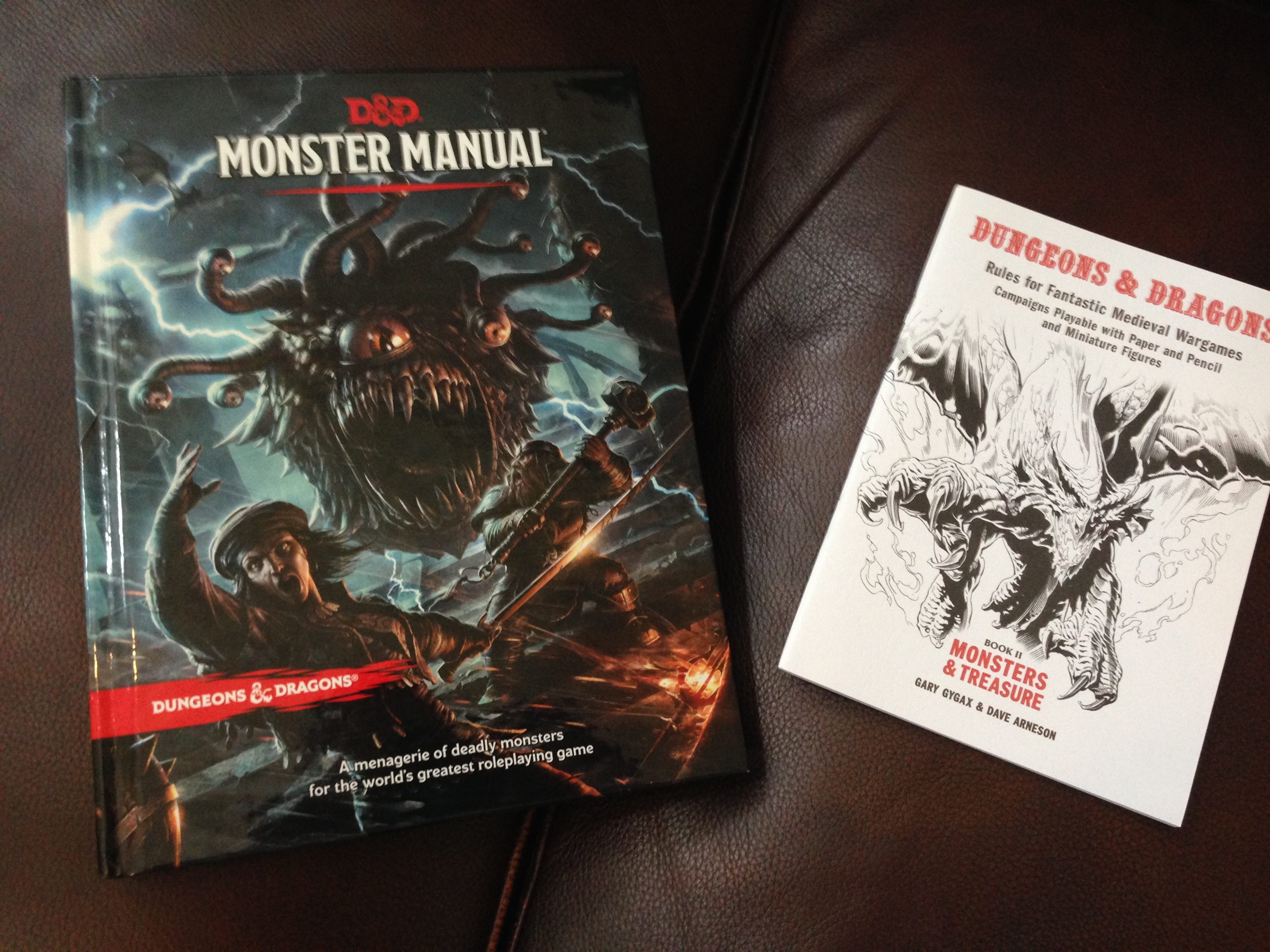 Monster Manual and OD&D Vol 2