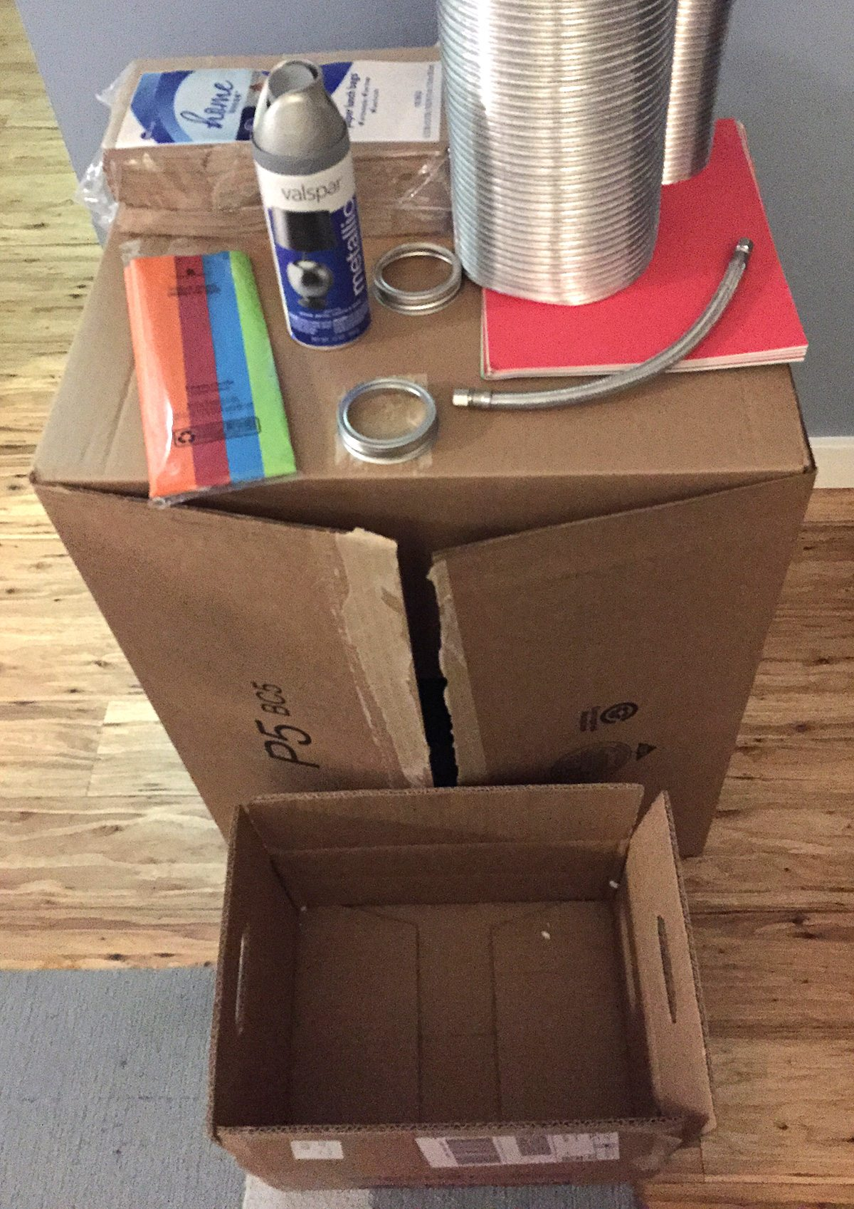My pile of robot making supplies.