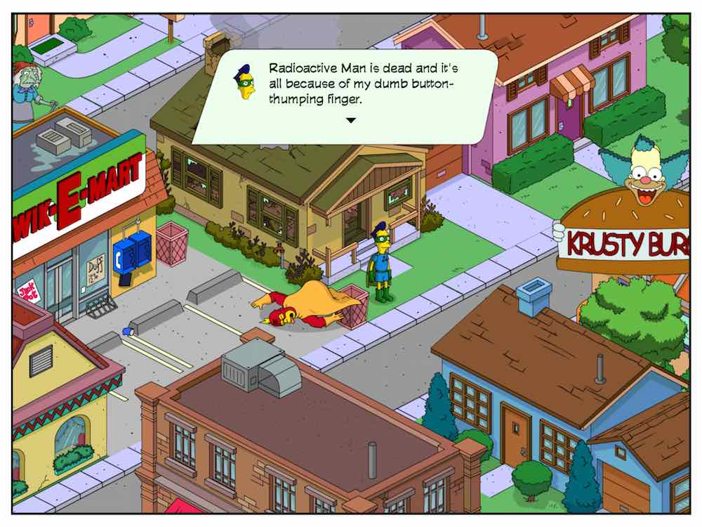 Radioactive Man dead in Simpsons: Tapped Out
