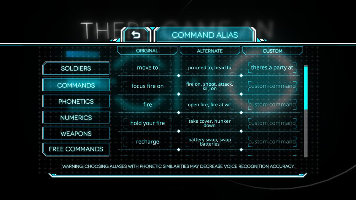 All of the voice controls can be customized.
