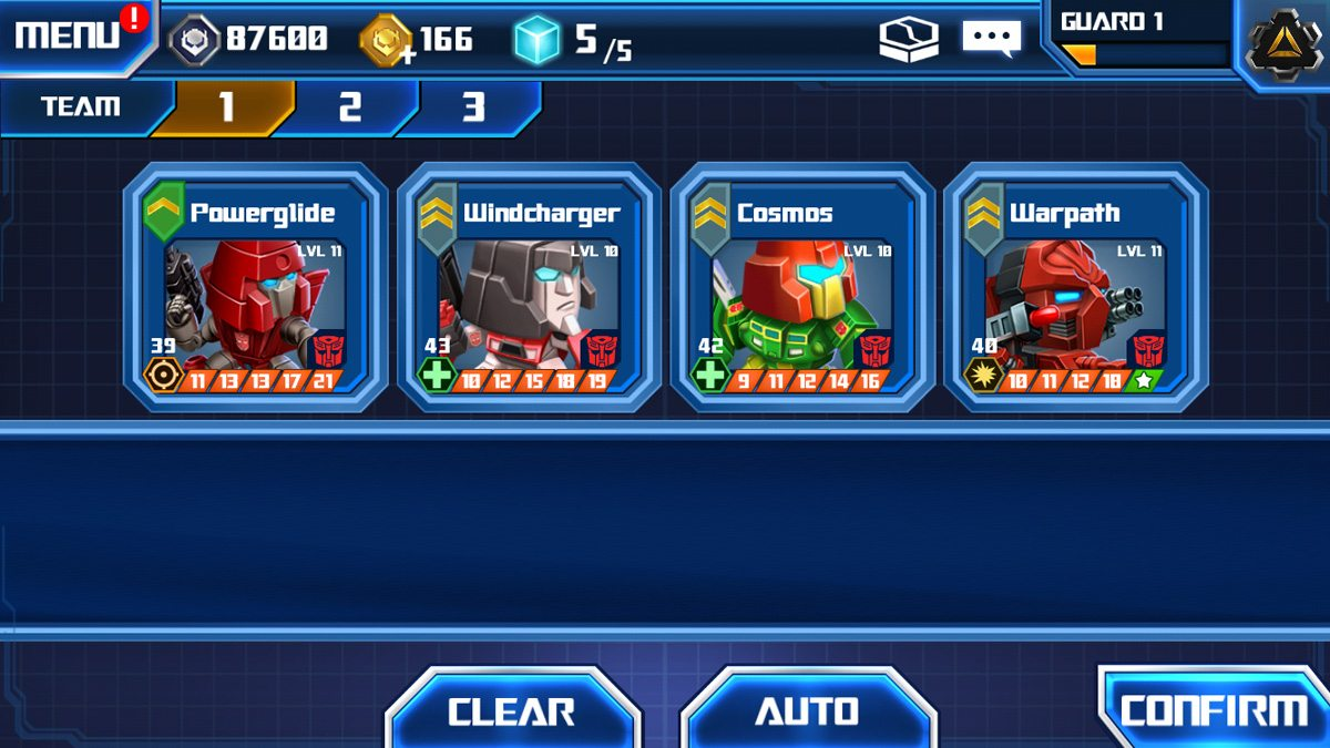 My current team consists of Autobots