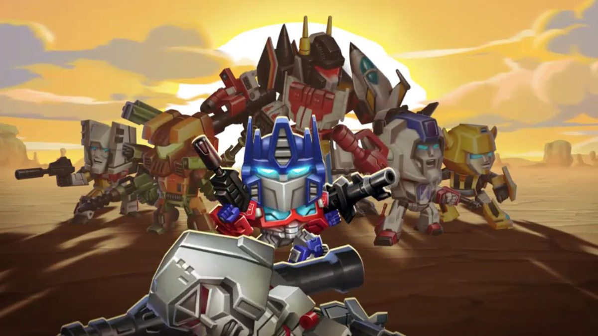 Optimus and the Autobots stand over a fallen Megatron