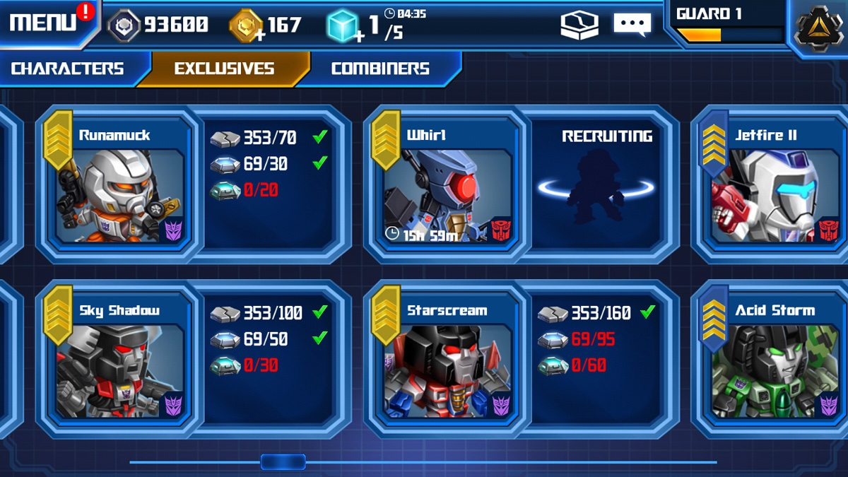 Whirl, Autobot triple changer, is my first exclusive character unlock