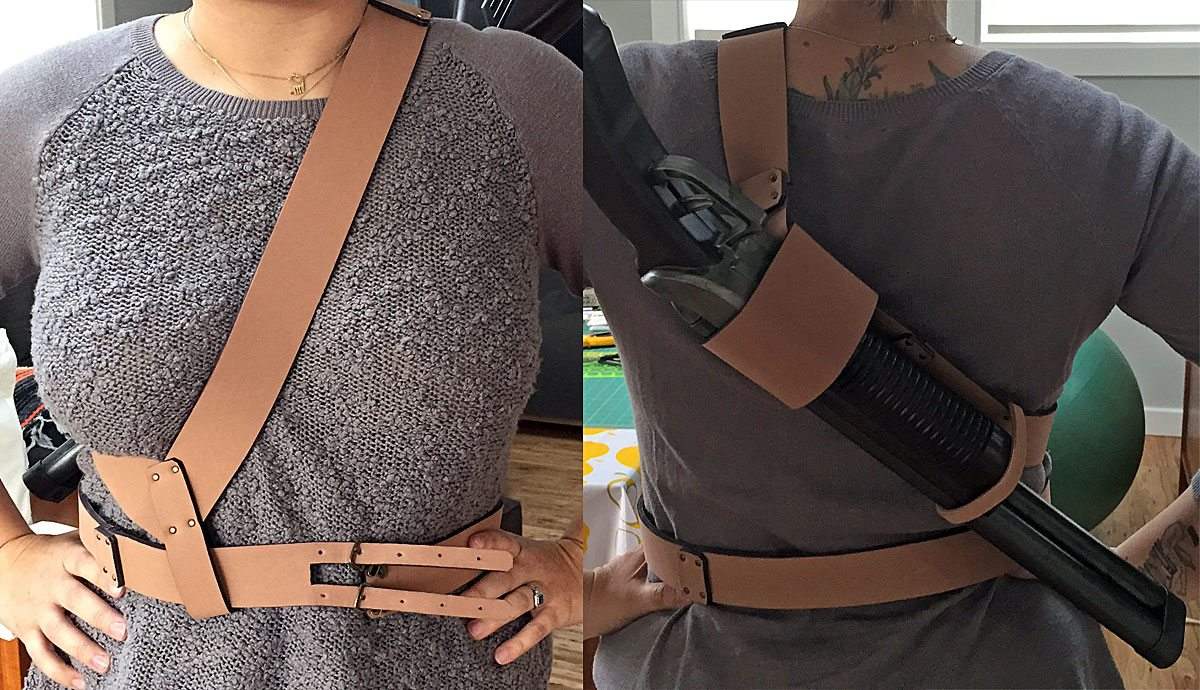 Finished back holster.Photo by Will James.