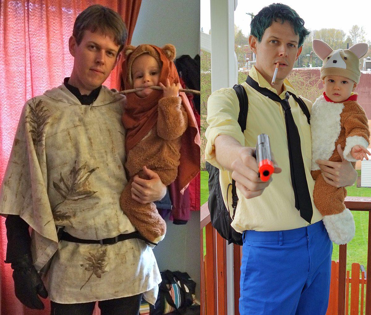 Luke/Ewok and Spike/Ein cosplay. Photo by Will James.