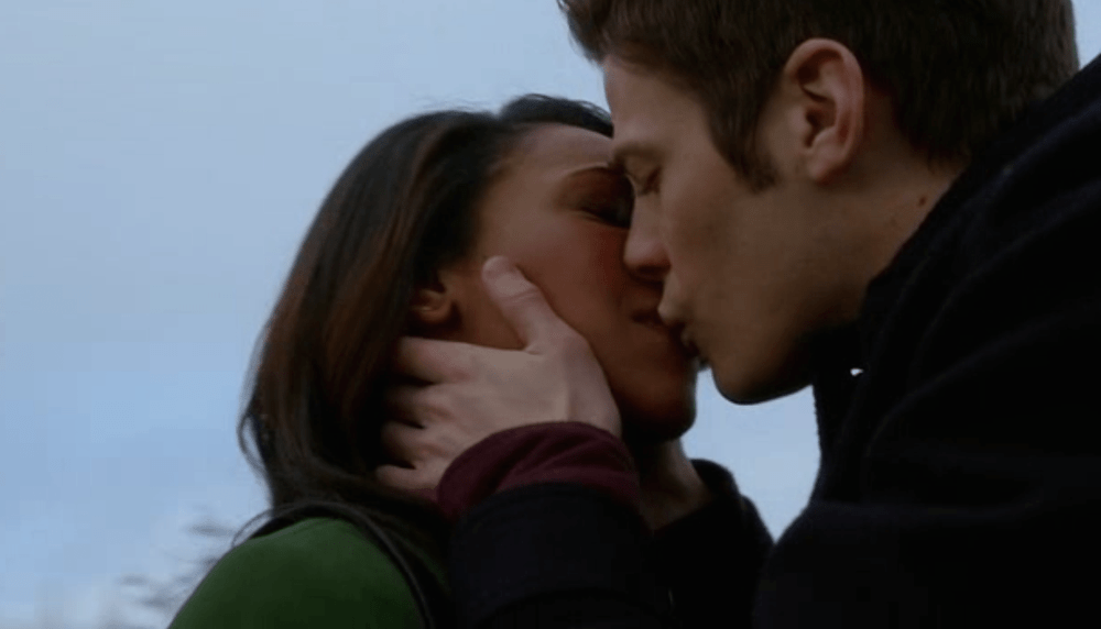 I tell a lie; it's the kiss. Source: CW.