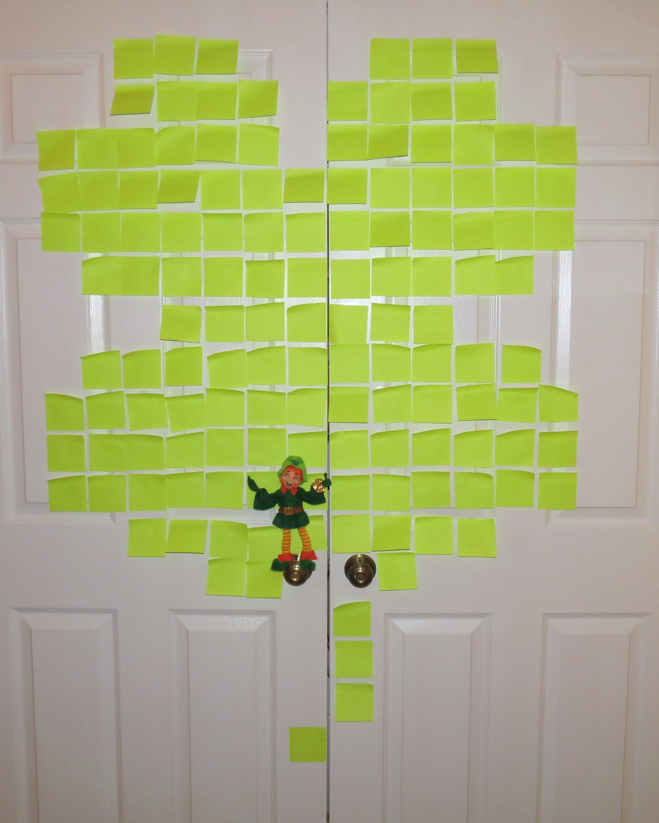 Byrne the leprechaun shamrock Post-It Note art