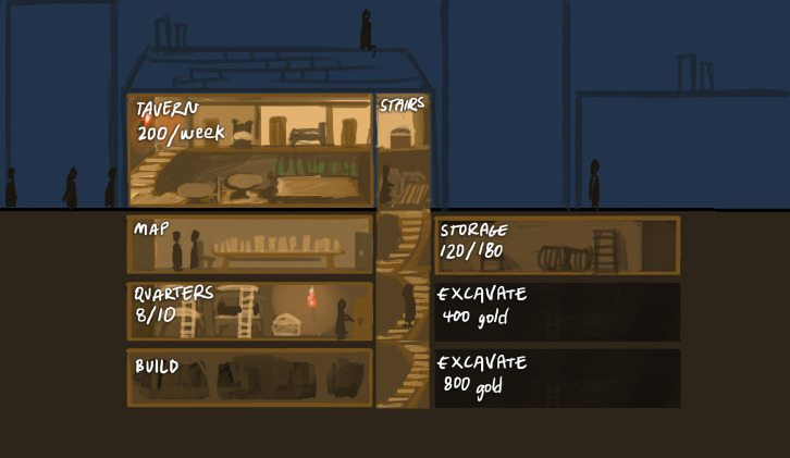 Anthill cutaway view of thieves headquarters