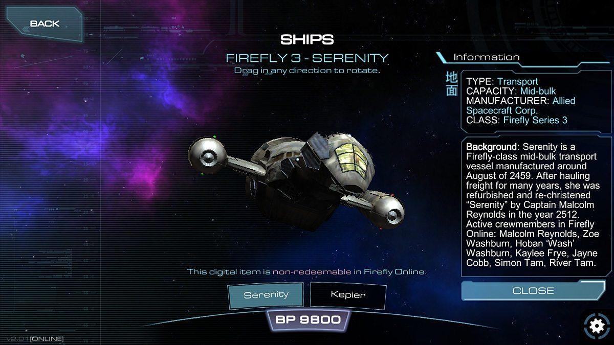 Firefly is a beautiful ship.
