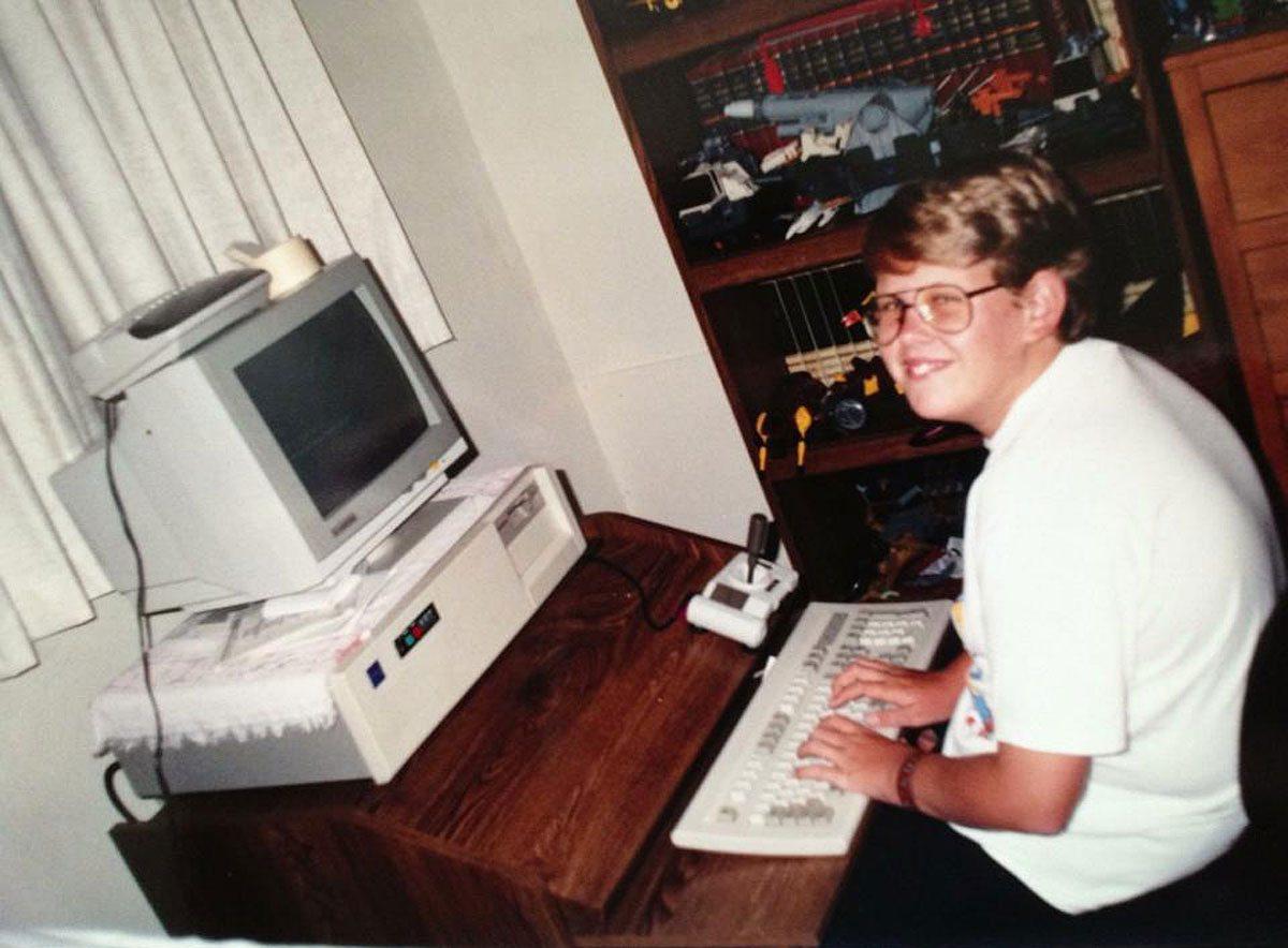 Me in my natural habitat at age 13.