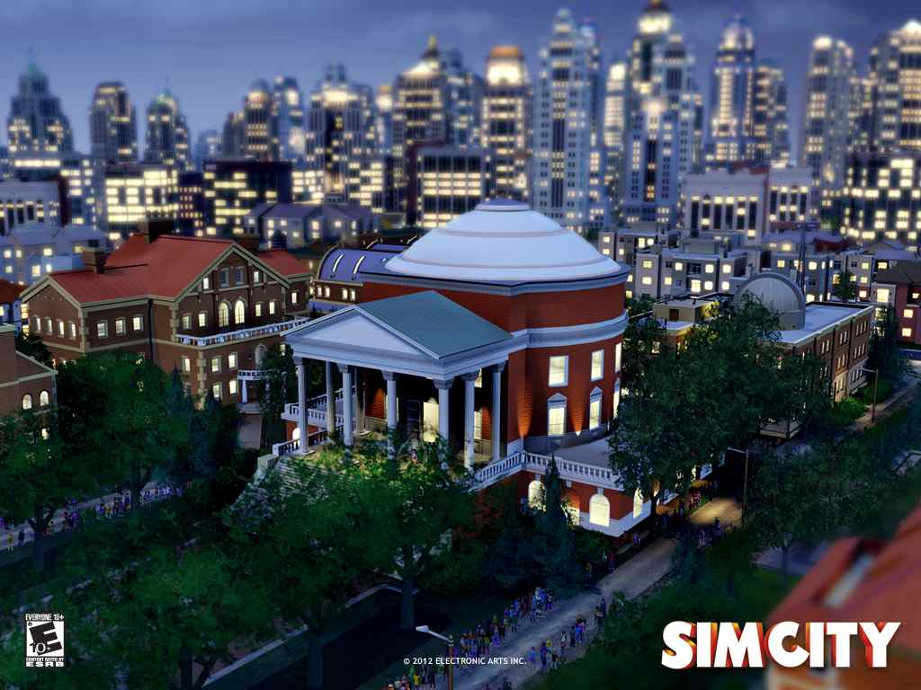SimCity at night