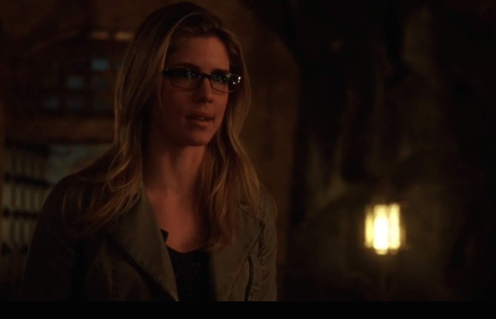 You can see she just wants him to stop talking. Source: CW.