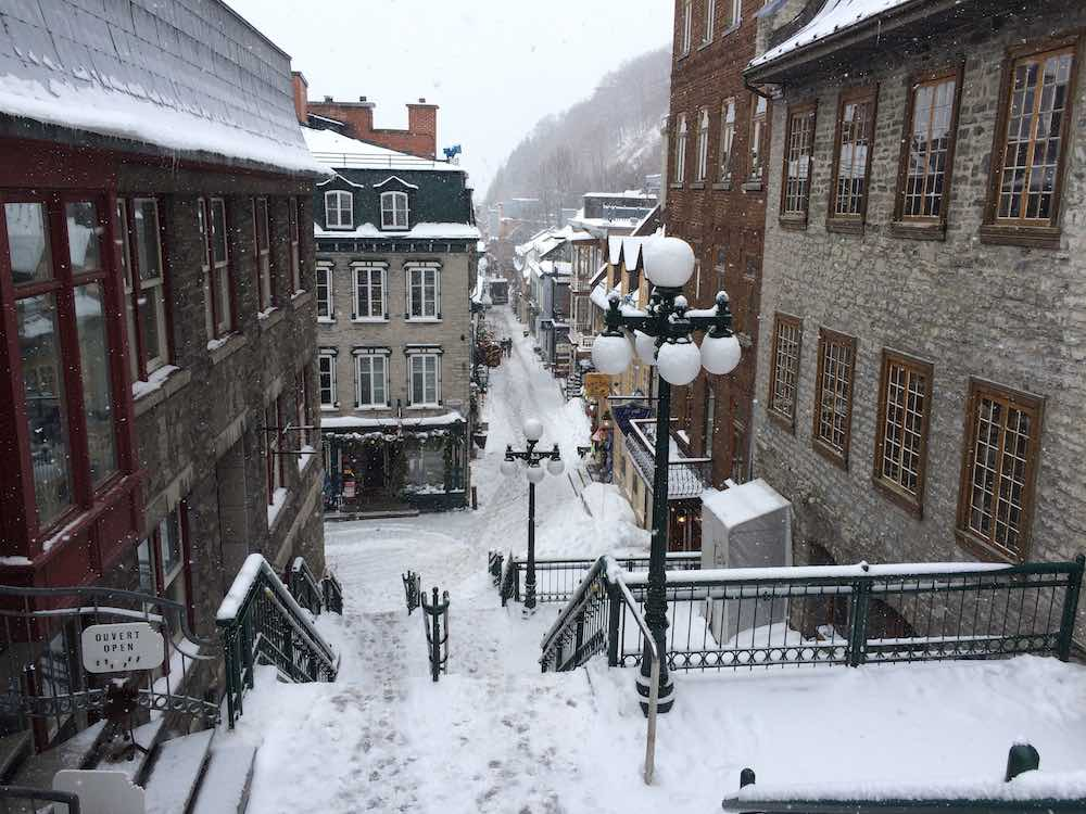 the Petite-Champlain district in Old Quebec