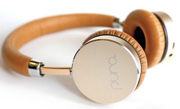 Puro headphones in gold