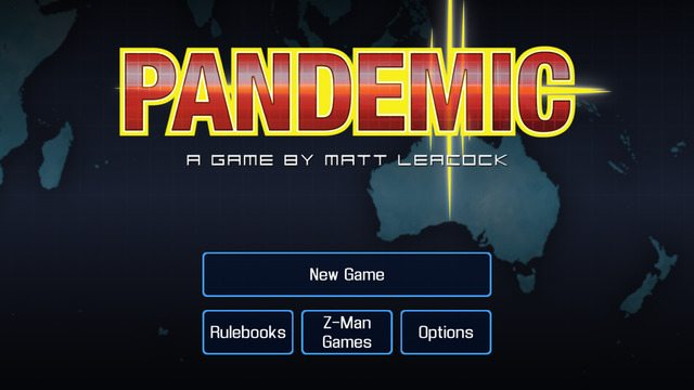 Screenshot of game menu. Image: Z-Man Games