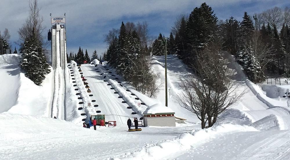 Everest tube run at Valcartier Village