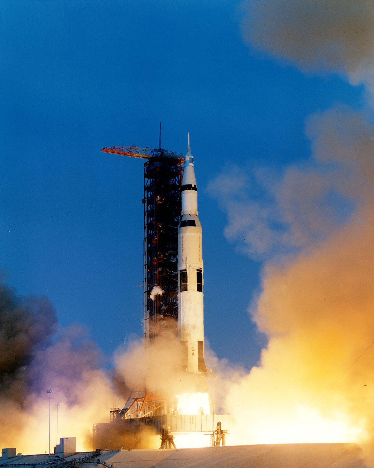 Apollo 13 lifts off on April 10, 1970.