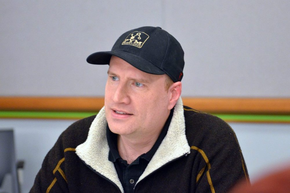 "Kevin Feige (note the ""Pym Technologies"" hat) - Photo:  Jana Seitzer / MerlotMommy.com"