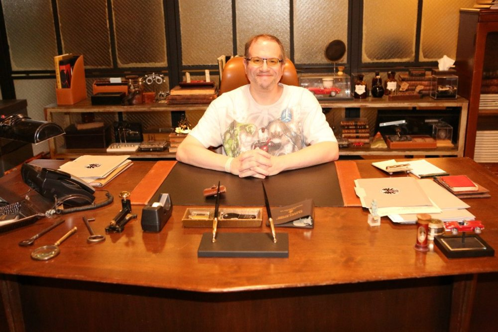 Yes, I got to sit at Coulson's desk. It was as awesome as you'd expect. - Photo: ABC/Adam Taylor