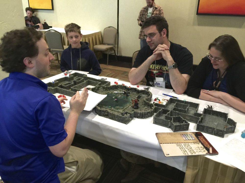 Players participating in a delve.