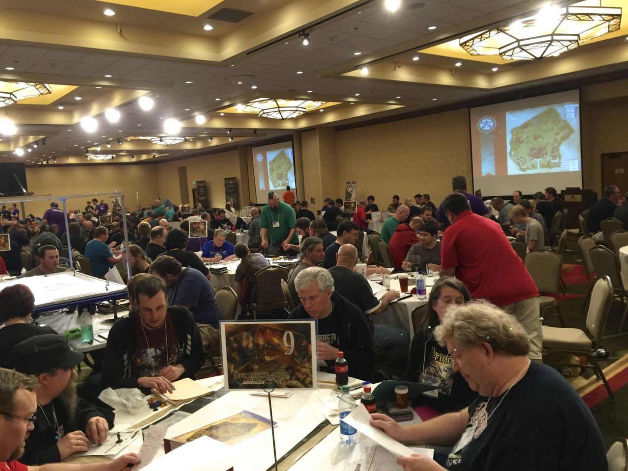 Room full of Pathfinder Society Players