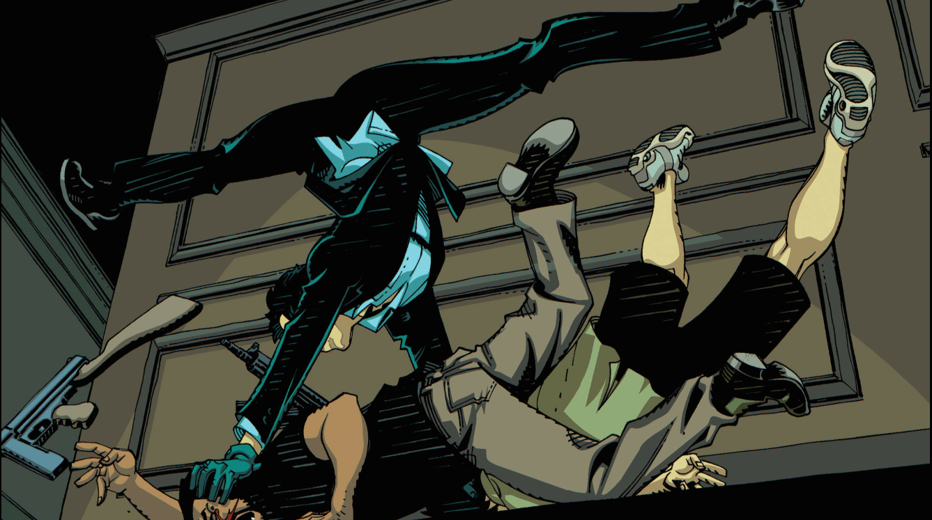 And his fight scenes aren't shabby either. Copyright DC Comics