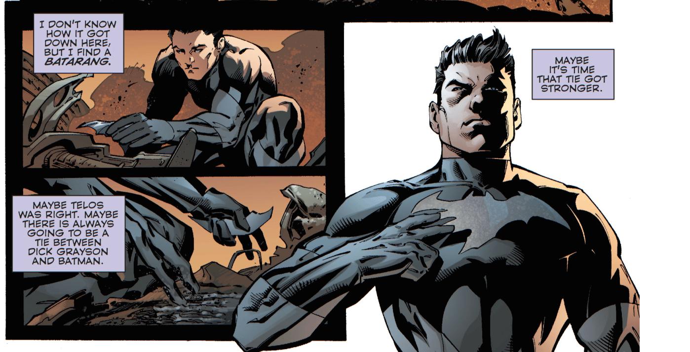 No-one cares, fake Dick. Copyright DC Comics.
