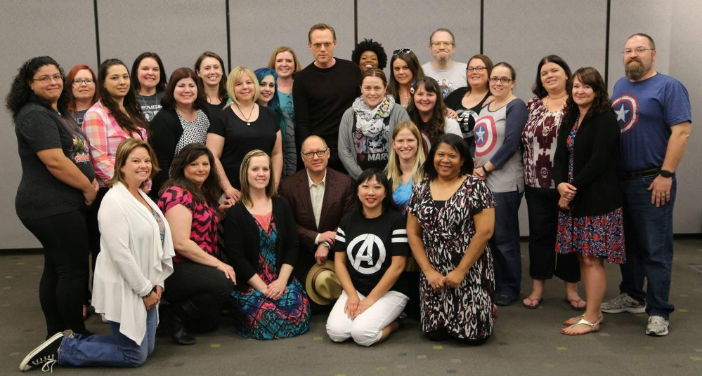 Group photo with the bloggers (As usual, I'm in back towards the right) - Photo: Disney