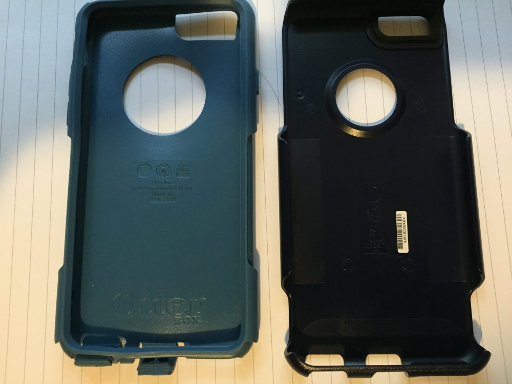 The two parts of the Otterbox Commuter case, image by Corrina Lawson