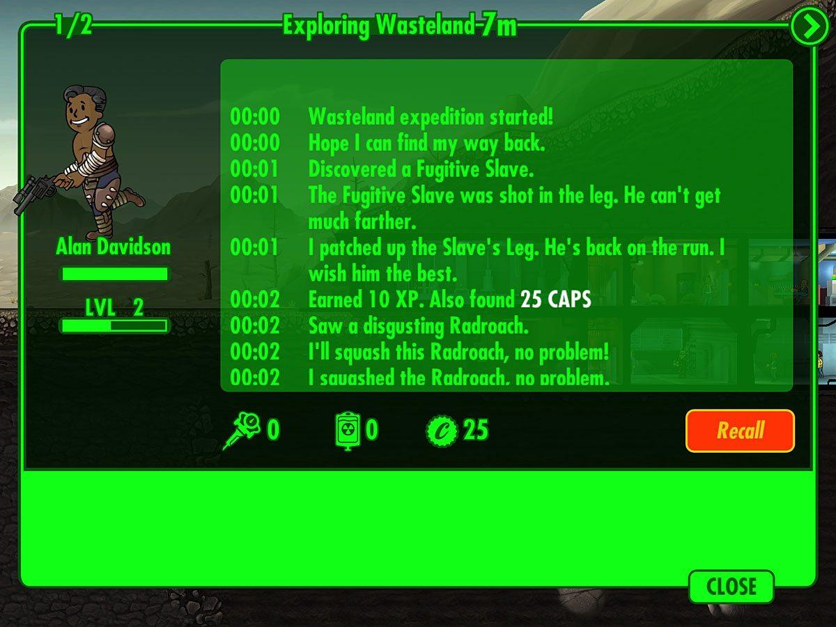 FalloutShelter-Exploring