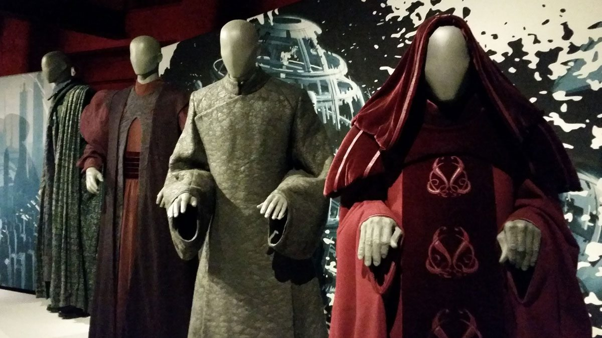 Costumes showing Palpatine's descent to evil. Photo by Rob Huddleston.