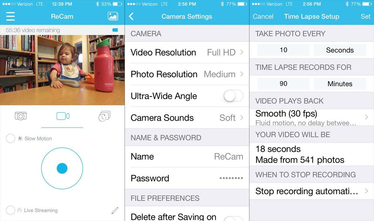 Re Camera app