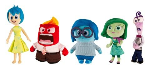 Inside Out Plush Toys TOMY Joy Anger Sadness Disgust Feat