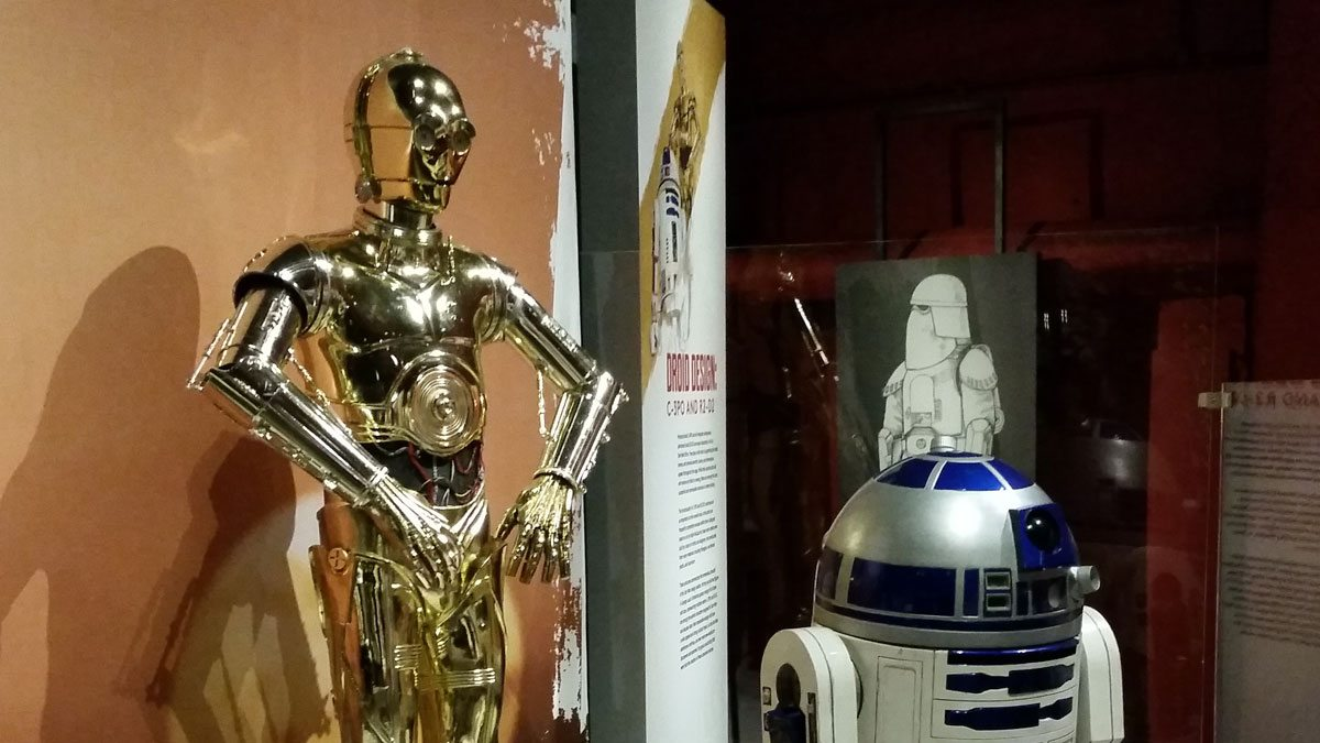C-3P0 and R2-D2. Photo by Rob Huddleston.